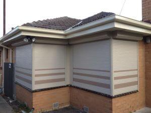 Corner shutter install